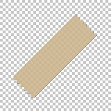 Adhesive Masking Paper Sticky Scotch Strip Tapes On Isolate Background, Vector Illustration EPS10