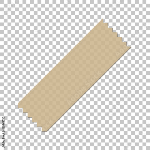 Fotografía Adhesive Masking Paper Sticky Scotch Strip Tapes on isolate background, vector i