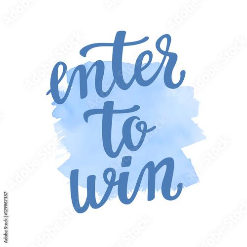Fotografía  Enter to win