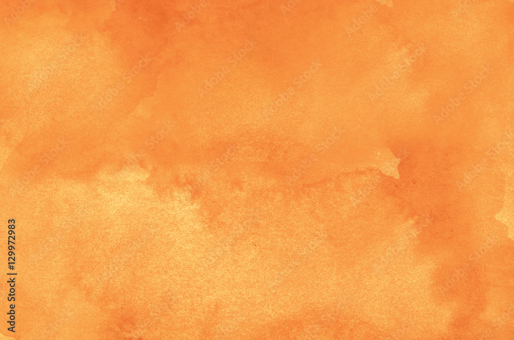 Fototapeta Abstract orange watercolor background