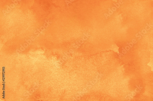 Obraz Abstract orange watercolor background - fototapety do salonu