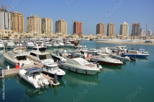 Fotografie, Obraz  Harbour view in the Pearl precinct of Doha, Qatar.