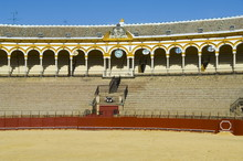 Inside The Bull Ring, Plaza De Toros De La Maestranza, El Arenal District, Seville, Andalusia, Spain