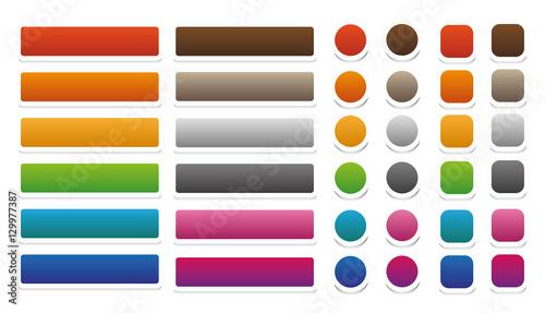 Fotografía  Web Buttons Set Vector Isolated Design
