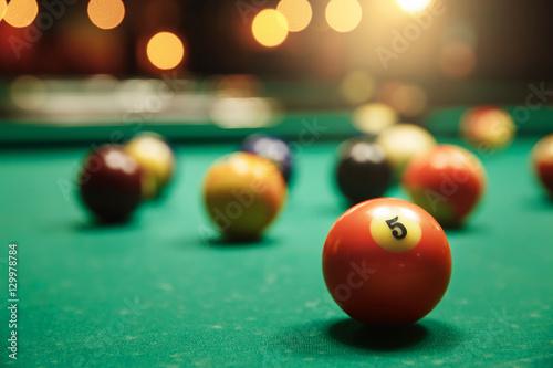 Photo Billiard balls