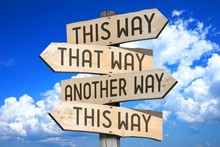 This Way Concept - Wooden Sign...