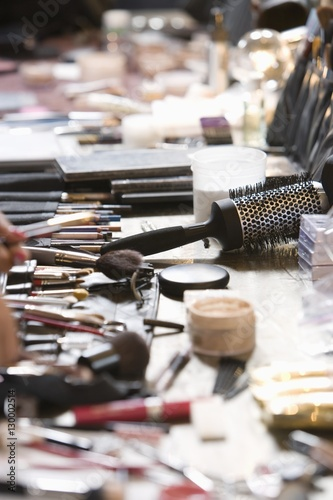 Fotografie, Obraz  Cosmetics range on dressing table