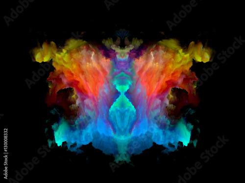 Zdjęcie XXL Wzorzec testowy koloru Rorschacha