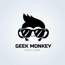 Monkey Logo Template.