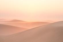 Quiet Moment In Desert During Sunrise. Dubai, UAE.