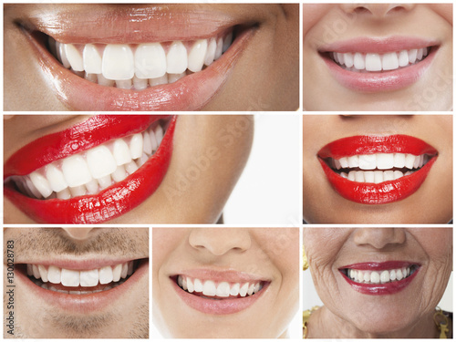 Collage of people smiling #130028783