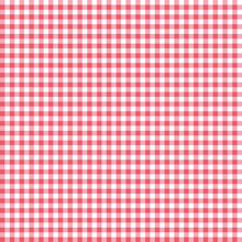 Red Seamless Gingham Pattern. Vector Illustration.