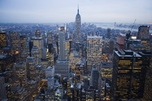 Manhattan In The Evening, New ...