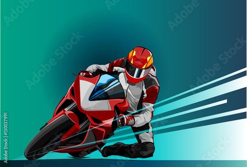 Fotografia Vector illustration motor racing