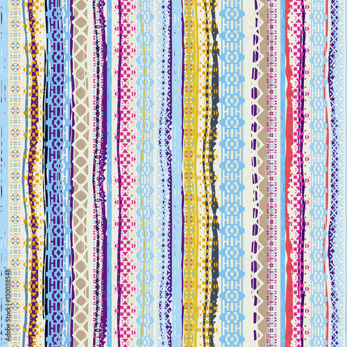 Photo Boho style. Ethnic seamless pattern