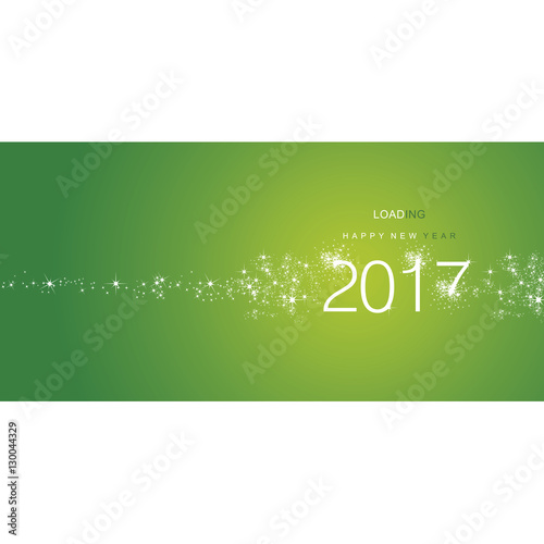 New Year 2017 greetings loading firework white green color Fotomurales