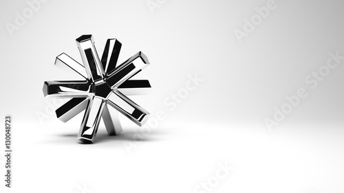 Fotografia  Abstract metal object