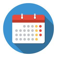 Vector Illustration Of  Calendar Icon