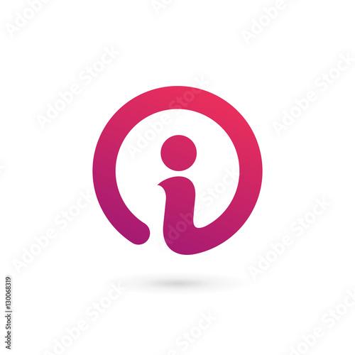 Fototapeta Letter I info logo icon design template elements obraz