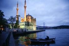 Ortakoy Mecidiye Mosque And Th...