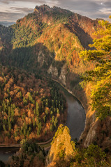 Dunajec gorge in Pieniny mountains, Poland