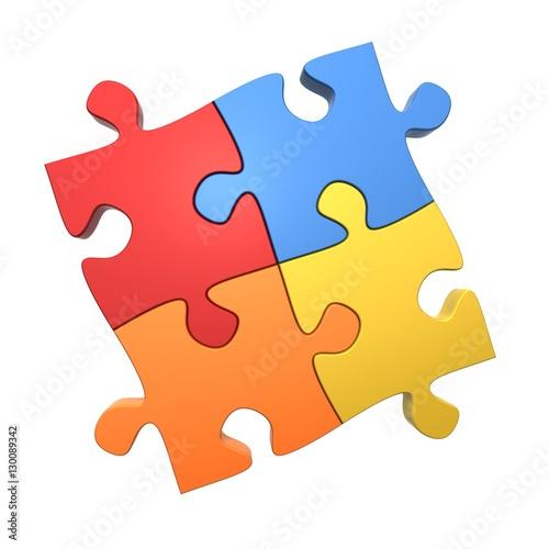 Fotografie, Obraz  3d abstract logo