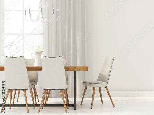 Fotografía  White interior  of dining room