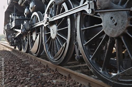 Cuadros en Lienzo Steam Locomotive Detail