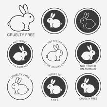 No Animals Testing Icon Design...