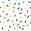 Confetti seamless vector pattern