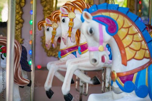 Poster Amusementspark toy horses