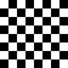 Checker Pattern Black and White