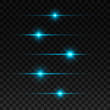 Glowing lights and stars. Isolated on transparent background. Vector illustration, eps 10.