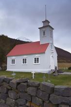 Laufas Historic Farmstead, The Present Church Built In 1865, North Of Akureyri, Iceland