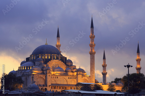 Suleymaniye Mosque, UNESCO World Heritage Site, Eminonuand Bazaar District, Ista Poster
