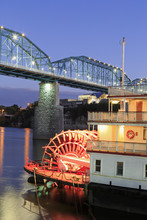 Delta Queen Riverboat And Walnut Street Bridge, Chattanooga, Tennessee