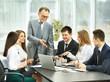 successful businessman and business team at a seminar