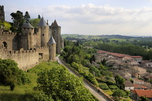 Walled And Turreted Fortress Of La Cite, Carcassonne, Languedoc, France