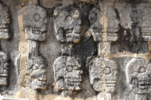Wall Of Carved Sculls From Chi...