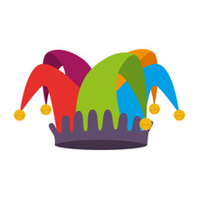 Fools Hat Isolated Icon Vector...