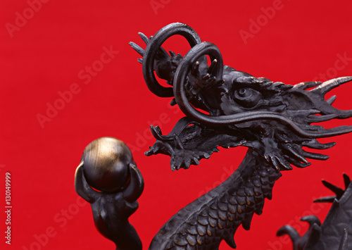 Photo  Ornament of dragon