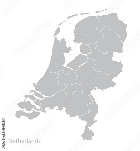 Map of Netherlands, Holland. Fototapete