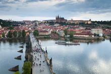 St. Vitus Cathedral, Charles Bridge, River Vltava And The Castle District, Prague, Czech Republic