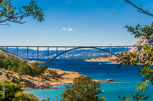 Deurstickers Brug The Krk bridge in Croatia