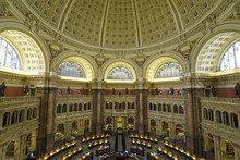 The Great Hall In The Thomas Jefferson Building, Library Of Congress, Washington DC