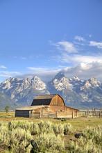 John Moulton Homestead, Barn Dating From The 1890s, Mormon Row, Grand Teton National Park, Wyoming