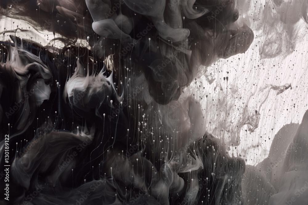 Fototapety, obrazy: Ink drop in water