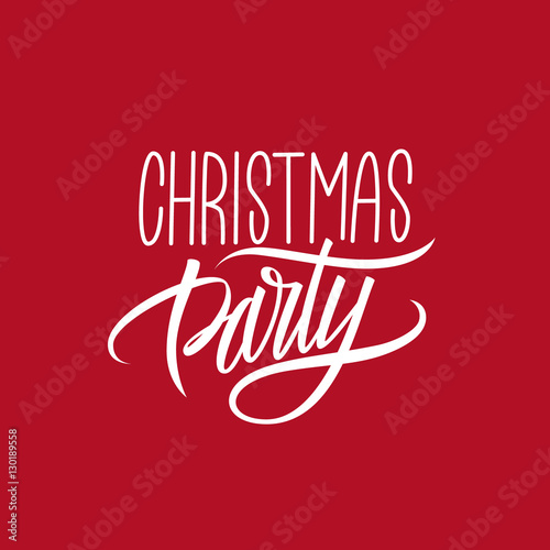 Christmas party calligraphic lettering design card template christmas party calligraphic lettering design card template creative typography for holiday greetings vector illustration m4hsunfo