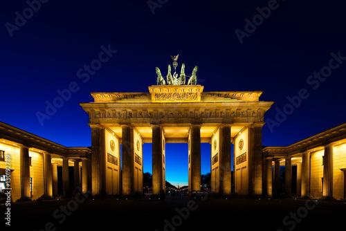 Zdjęcie XXL Brama Brandenburska w Berlinie w nocy