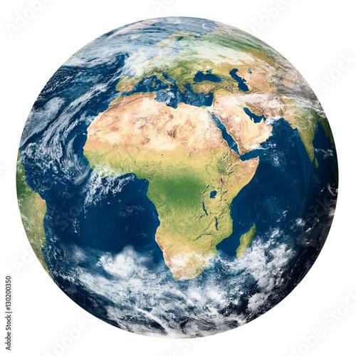Fotografie, Obraz  Planet Earth with clouds, Africa - Pianeta Terra con nuvole, Africa